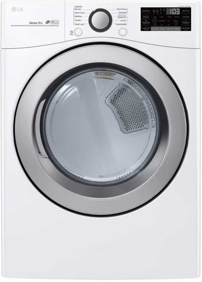 LG - 7.4 cu. Ft  Gas Dryer in White - DLG3501W