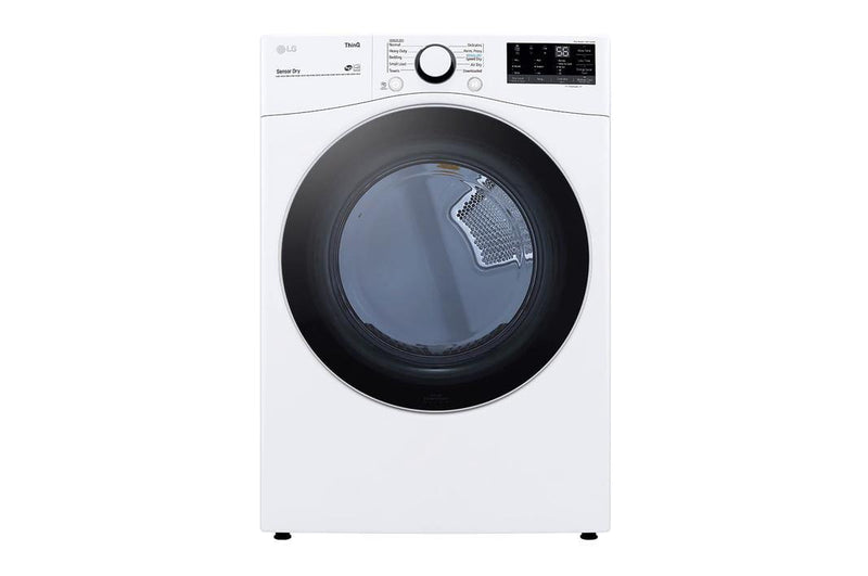 LG - 7.4 cu. Ft  Gas Dryer in White - DLG3601W