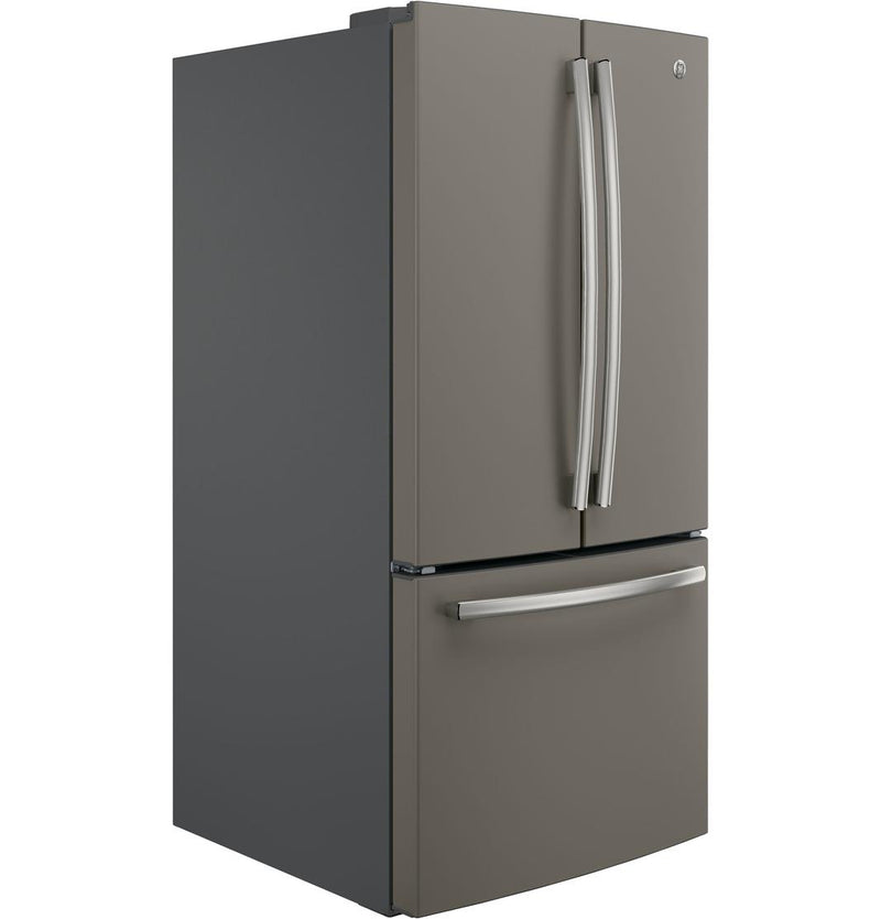 GE - 32.75 Inch 18.6 cu. ft French Door Refrigerator in Slate - GWE19JMLES