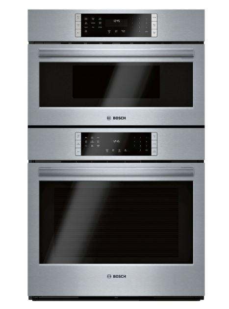 Bosch - 4.6 cu. ft Combination Wall Oven in Stainless - HBL8753UC
