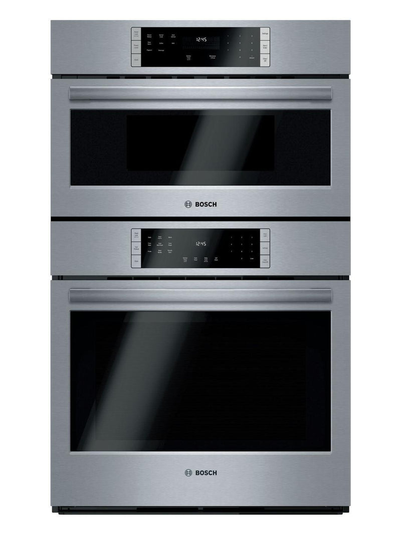 Bosch - 4.6 cu. ft Combination Wall Oven in Stainless Steel - HBL87M53UC