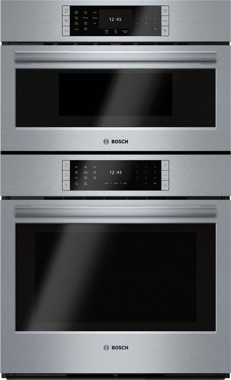 Bosch - 4.6 cu. ft Combination Wall Oven in Stainless Steel - HBLP752UC