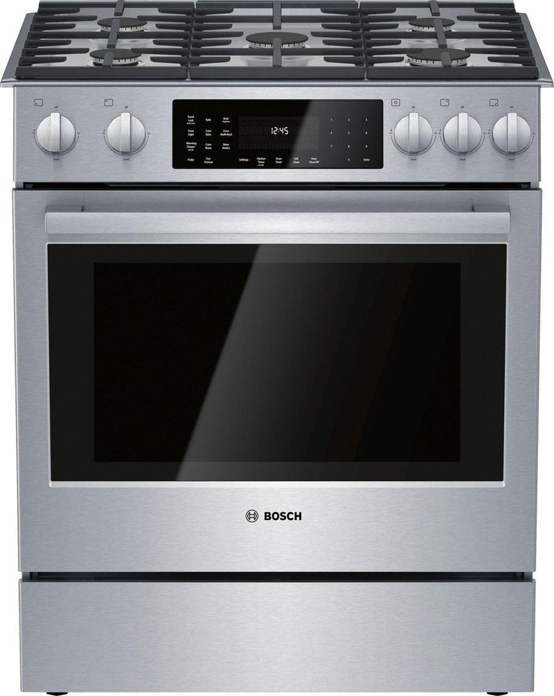 Bosch - 5 cu. ft  Dual Fuel Range in Stainless - HDIP056C