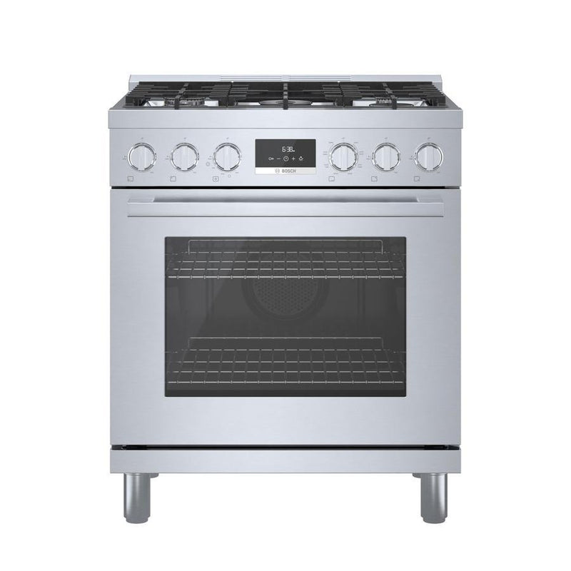 Bosch - 4 cu. ft  Dual Fuel Range in Stainless - HDS8055C