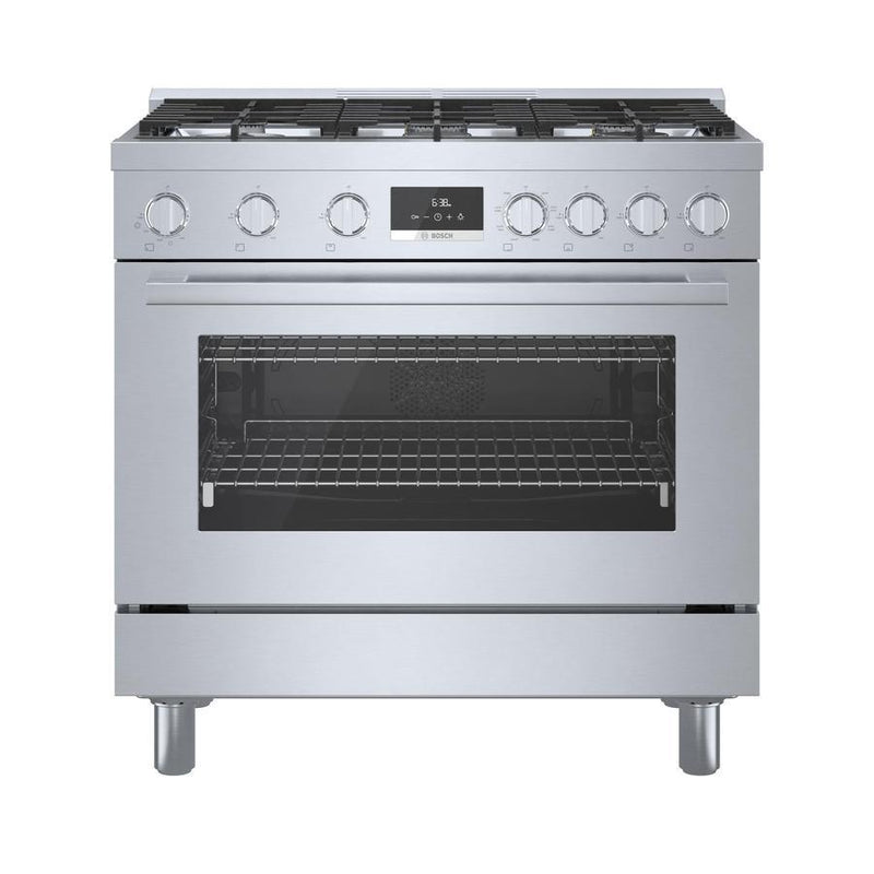 Bosch - 3.5 cu. ft  Dual Fuel Range in Stainless - HDS8655C