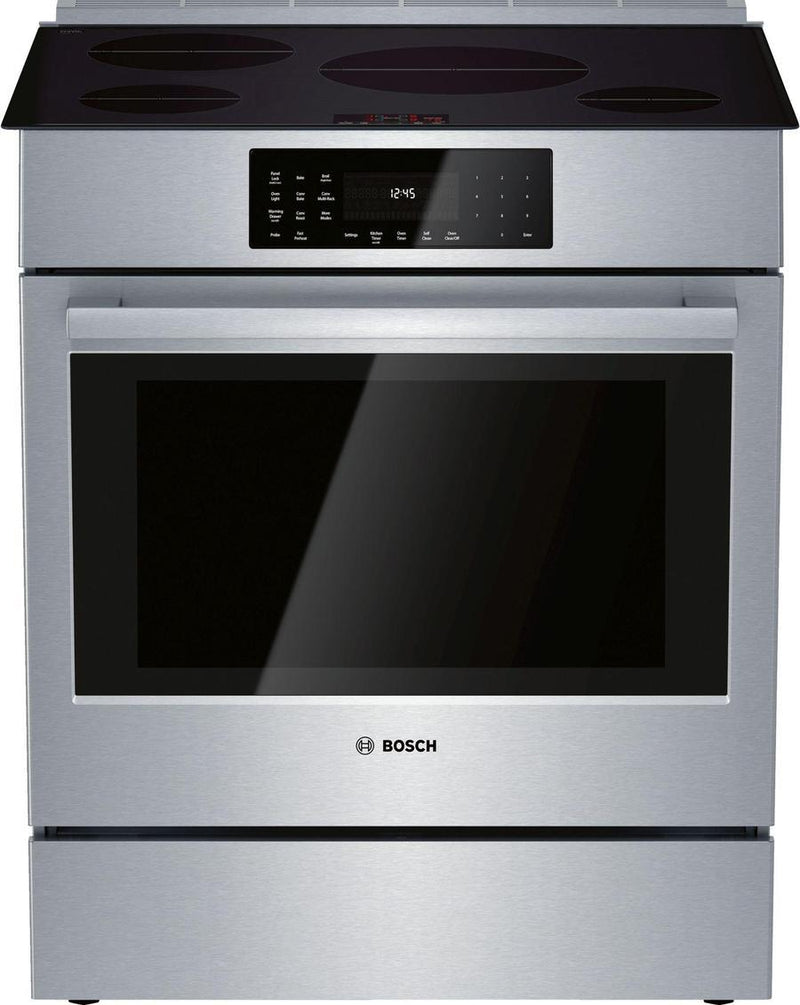 Bosch - 4.6 cu. ft Induction Range in Stainless - HII8056C