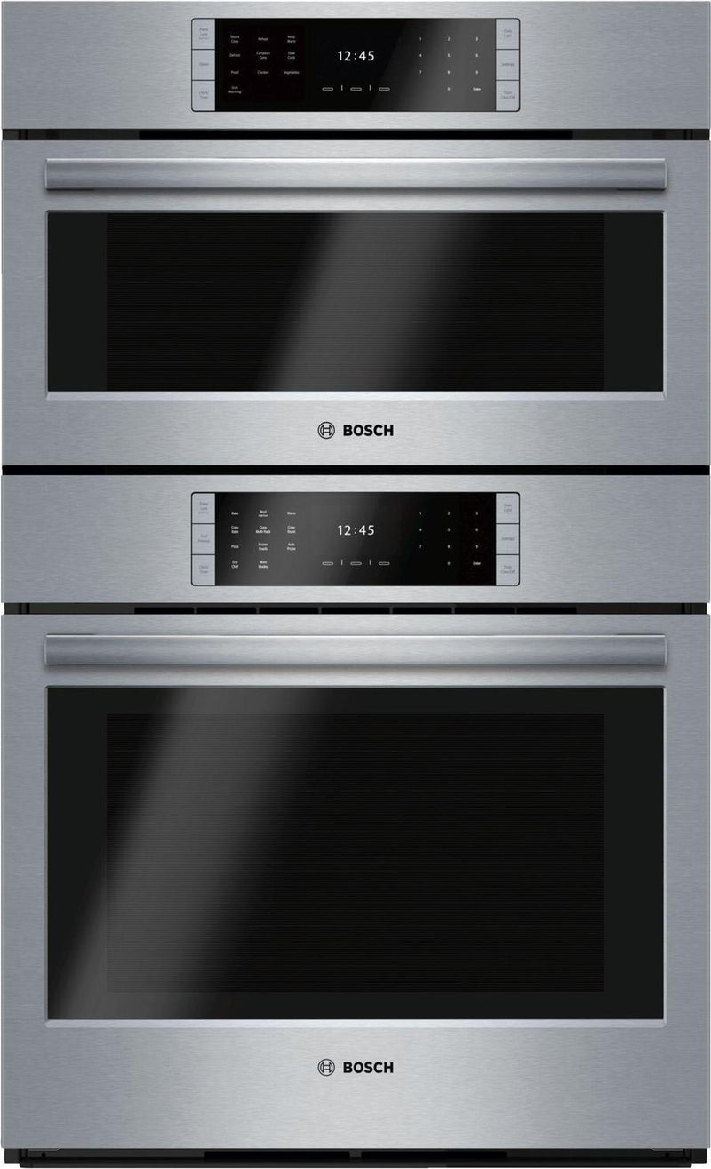 Bosch - 4.6 cu. ft Combination Wall Oven in Stainless Steel - HSLP751UC