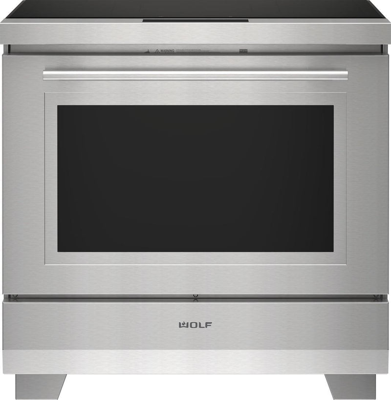 Wolf - 6.3 cu. ft  Induction Range in Stainless - IR36550/S/T