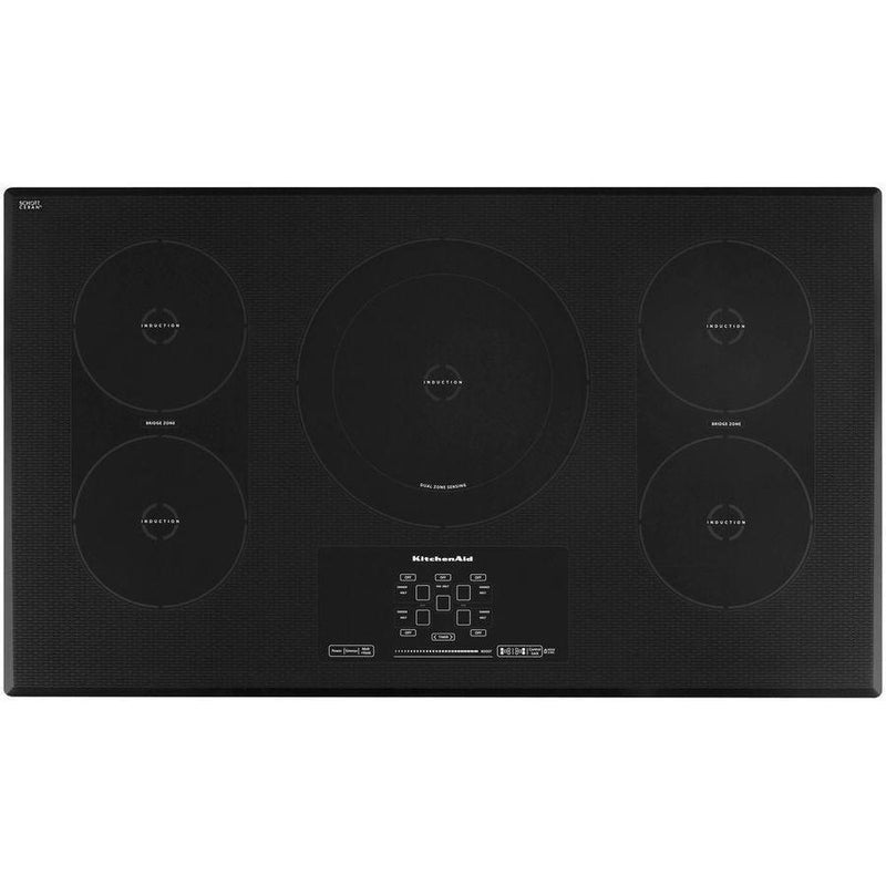 KitchenAid - 36 inch wide Induction Cooktop in Black - KICU569XBL