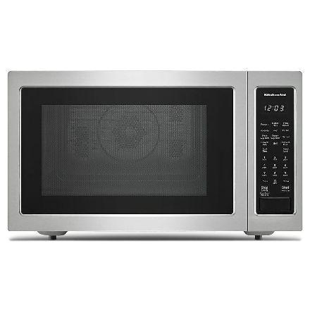 KitchenAid - 1.5 cu. Ft  Counter top Microwave in Stainless Steel - KMCC5015GSS