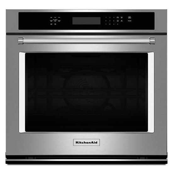 KitchenAid - 5 cu. ft Single Wall Oven in Stainless Steel - KOSE500ESS