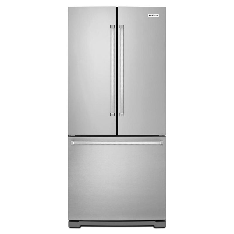 KitchenAid - 30.13 Inch 19.68 cu. ft French Door Refrigerator in Stainless - KRFF300ESS