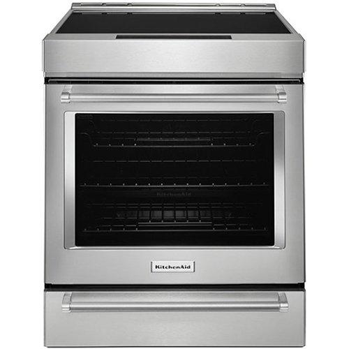 KitchenAid - 7.1 cu. ft Induction Range in Stainless - KSIB900ESS