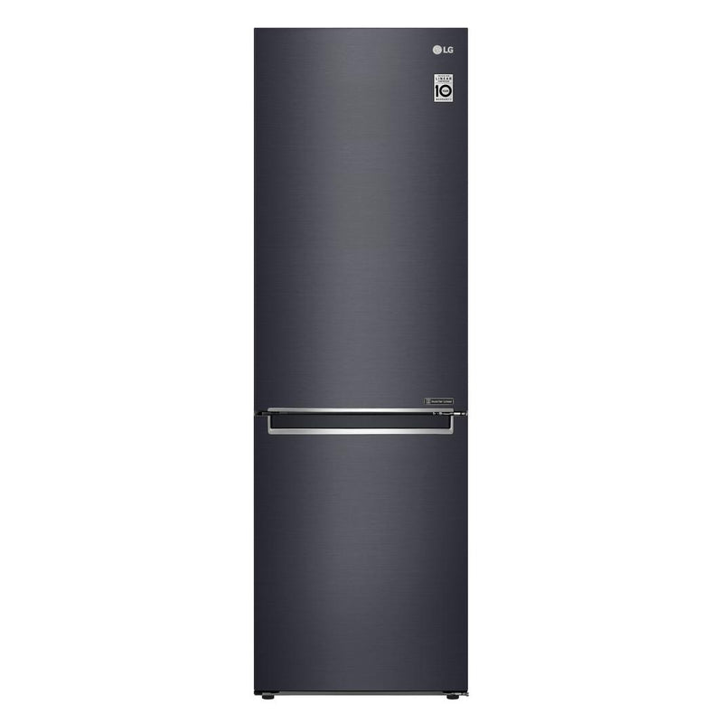 LG - 23.4 Inch 11.9 cu. ft Bottom Mount Refrigerator in Black - LBNC12241P