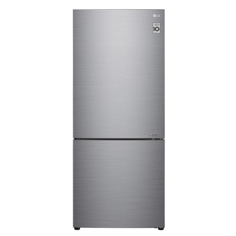 LG - 27.6 Inch 14.7 cu. ft Bottom Mount Refrigerator in Silver - LBNC15231V