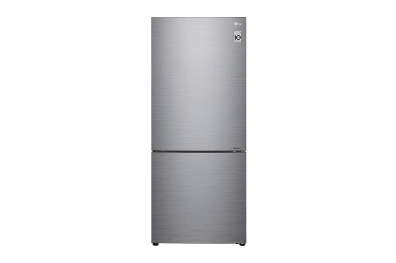 LG - 27.375 Inch 14.7 cu. ft Bottom Mount Refrigerator in Silver - LBNC15251V