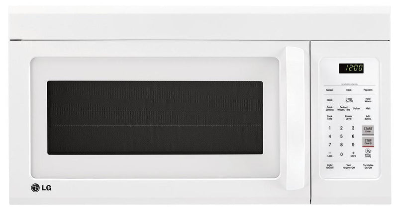 LG - 1.8 cu. Ft  Over the range Microwave in White - LMV1852SW