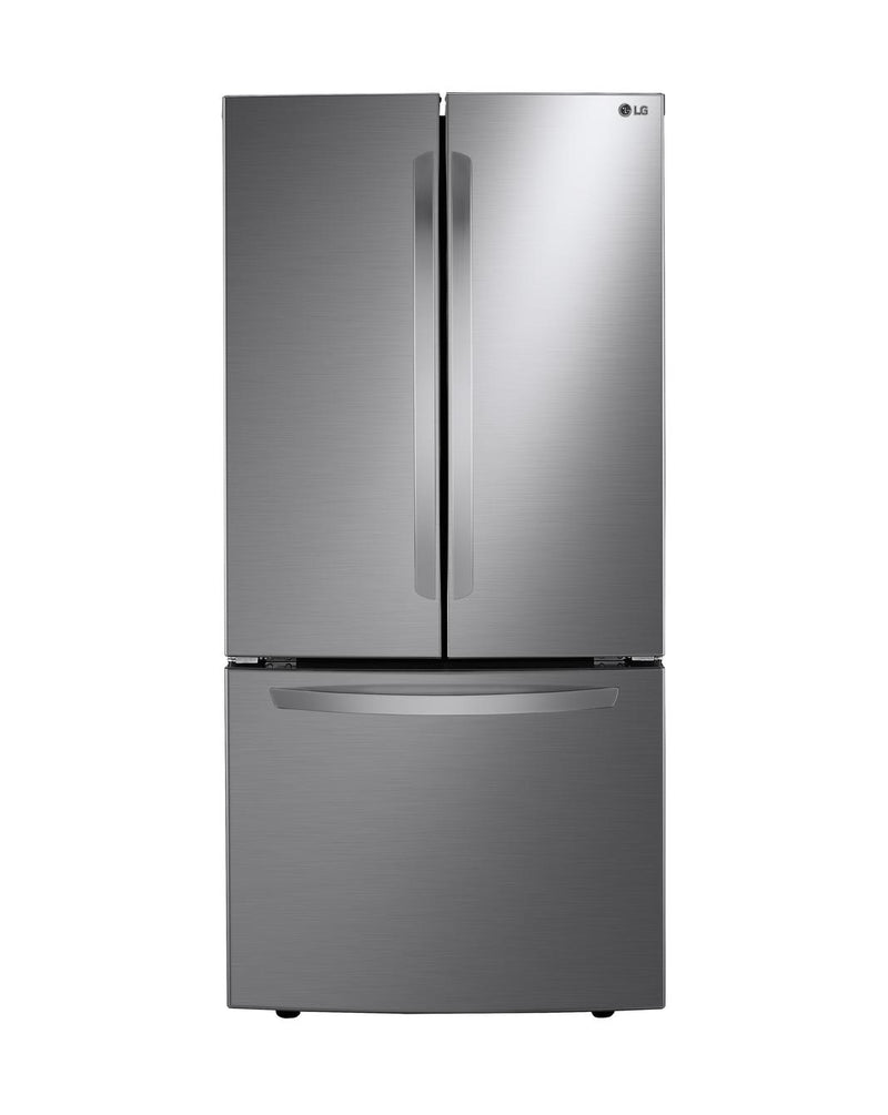 LG - 33 Inch 25.1 cu. ft French Door Refrigerator in Silver - LRFNS2503V