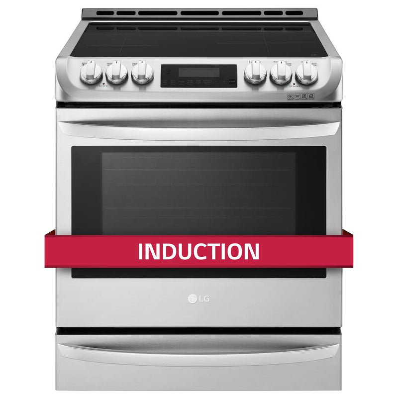 LG - 6.3 cu. ft  Induction Range in Stainless - LSE4617ST