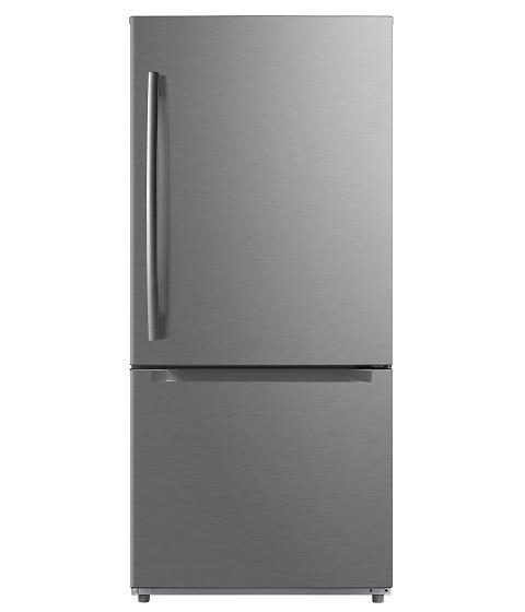 Moffat - 29.5 Inch 18.6 cu. ft Bottom Mount Refrigerator in Stainless - MBE19DSNKSS