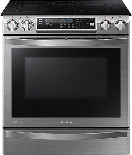 Samsung - 5.8 cu. ft Slide-In Induction Range in Stainless Steel - NE58H9970WS