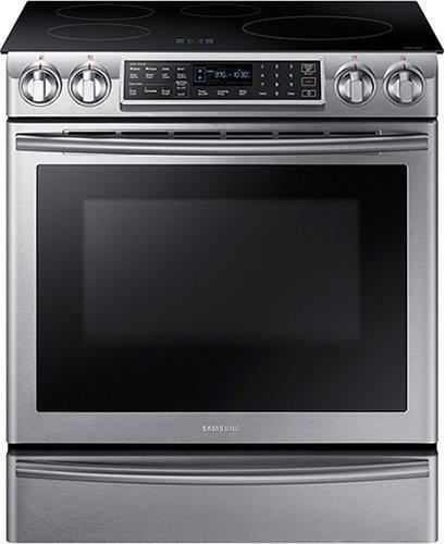 Samsung - 5.8 cu. ft Slide-In Induction Range in Stainless Steel - NE58K9560WS
