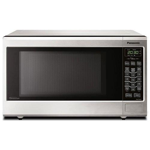Panasonic - 1.2 cu. Ft  Counter top Microwave in Stainless steel - NNST681SC
