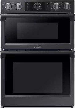 Samsung - 7.0 cu. ft Combination Wall Oven in Black stainless  - NQ70M7770DG