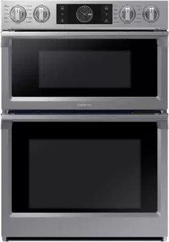 Samsung - 7.1 cu. ft Combination Wall Oven in Stainless - NQ70M7770DS