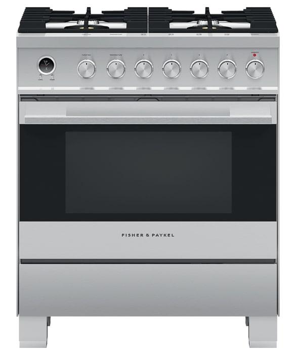 Fisher Paykel - 3.5 cu. ft  Dual Fuel Range in Stainless - OR30SDG6X1