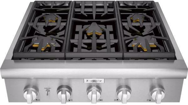 Thermador - 29.9375 inch wide Gas Cooktop in Stainless - PCG305W