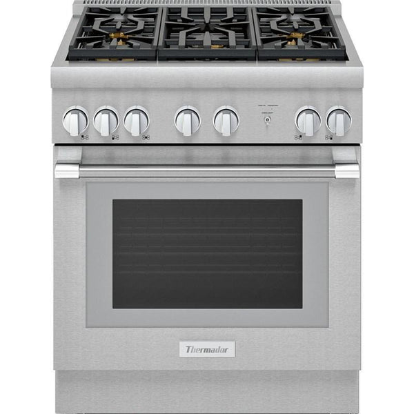 Thermador 4 6 Cu Ft Gas Range In Stainless Prg305wh