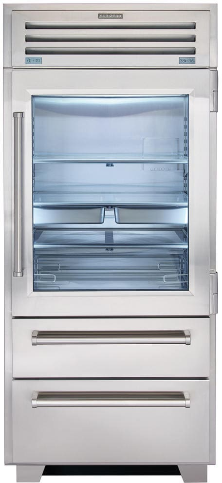 Sub-Zero - 36 Inch 22.7 cu. ft Bottom Mount Refrigerator in Stainless - PRO3650G-LH