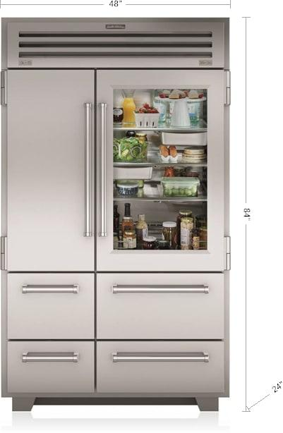 Sub-Zero - 48 Inch 30.4 cu. ft Side by Side Refrigerator in Stainless - PRO4850G
