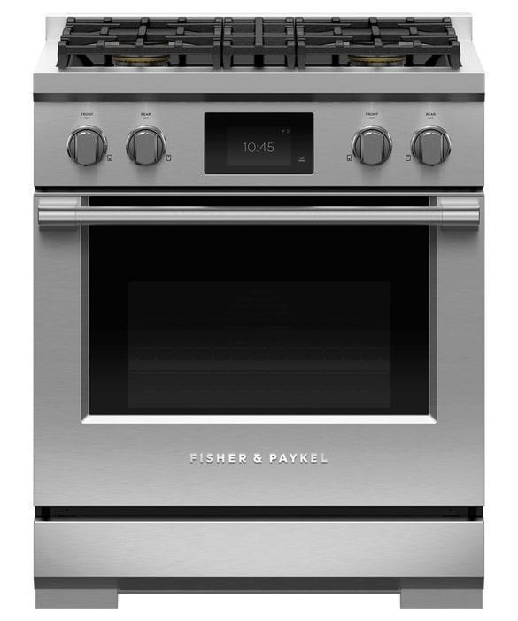 Fisher Paykel - 4 cu. ft  Dual Fuel Range in Stainless - RDV3-304-N