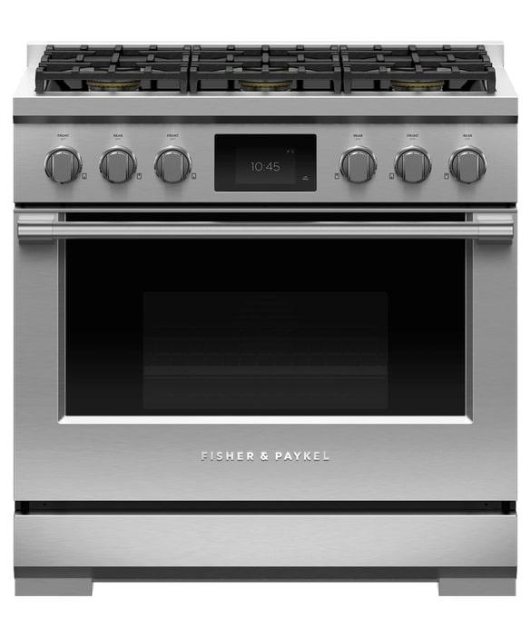 Fisher Paykel - 4.8 cu. ft  Dual Fuel Range in Stainless - RDV3-366-N