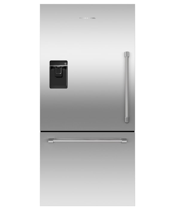 Fisher Paykel - 31.09375 Inch 17.1 cu. ft Bottom Mount Refrigerator in Stainless - RF170WLKUX6