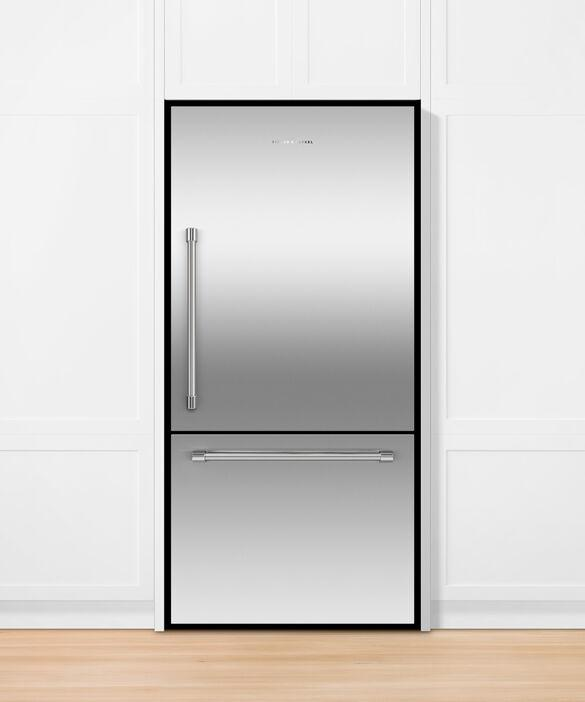Fisher Paykel - 31.1 Inch 17.1 cu. ft Bottom Mount Refrigerator in Stainless - RF170WRKJX6