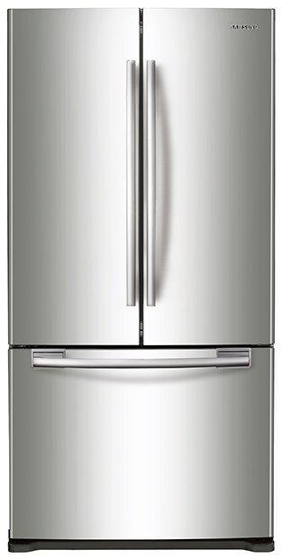 Samsung - 32.125 Inch 17.5 cu. ft French Door Refrigerator in Stainless - RF18HFENBSR