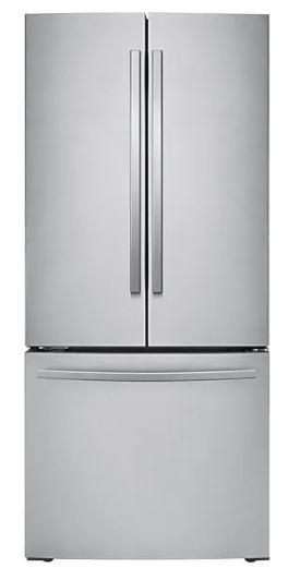 Samsung - 29.8 Inch 21.8 cu. ft French Door Refrigerator in Stainless - RF220NFTASR