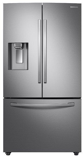 Samsung - 35.75 Inch 28 cu. ft French Door Refrigerator in Stainless - RF28R6201SR