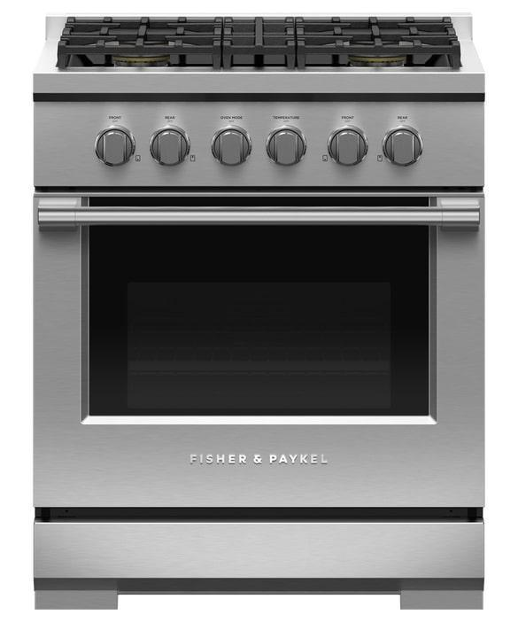 Fisher Paykel - 4.6 cu. ft  Gas Range in Stainless - RGV3-304-N