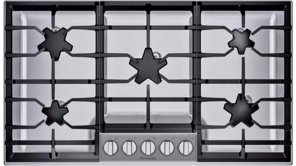 Thermador - 37 inch wide Gas Cooktop in Stainless - SGSXP365TS