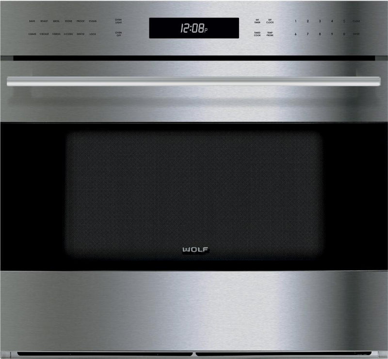 Wolf - 4.5 cu. ft Single Wall Wall Oven in Stainless - SO30TE/S/TH