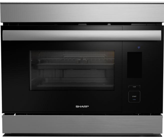 Sharp - 1.1 cu. ft Combination Wall Oven in Stainless - SSC2489DS