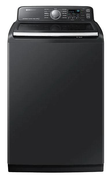 Samsung - 5.8 cu. Ft  Top Load Washer in Black Stainless - WA50T7455AV