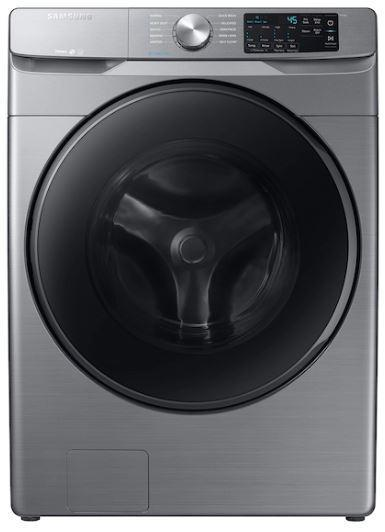 Samsung - 5.2 cu. Ft  Front Load Washer in Stainless - WF45R6100AP