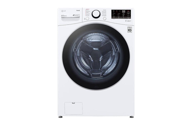 LG - 4.5 cu. Ft  Front Load Washer in White - WM3600HWA
