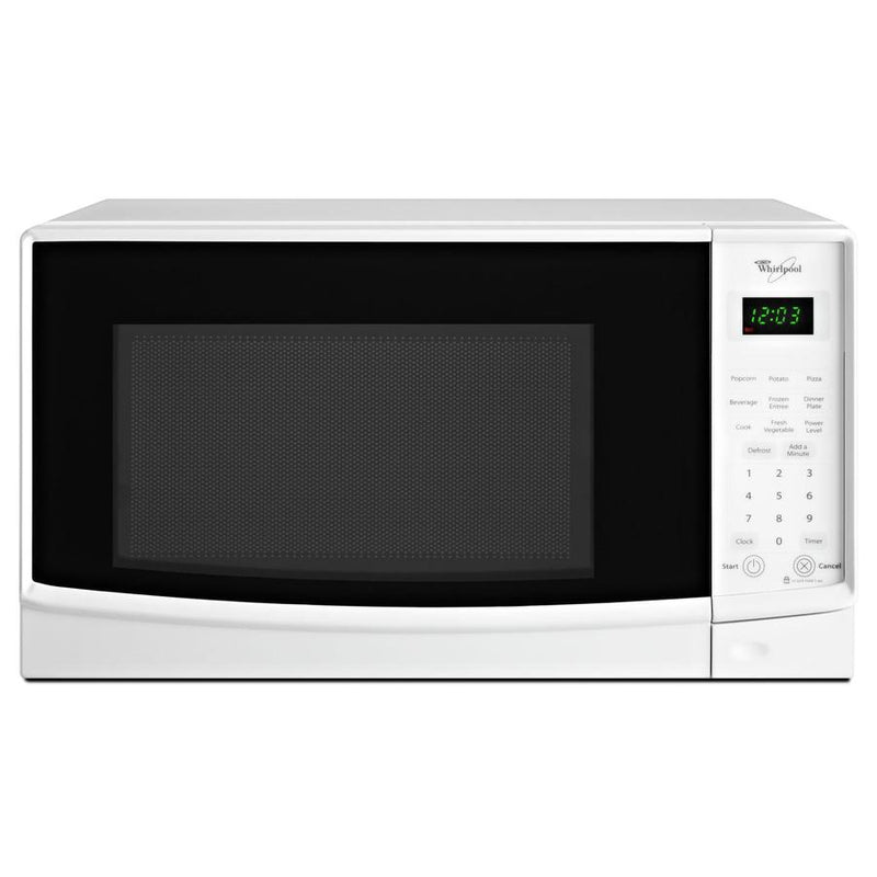 Whirlpool - 0.7 cu. Ft  Counter top Microwave in White - WMC10007AW