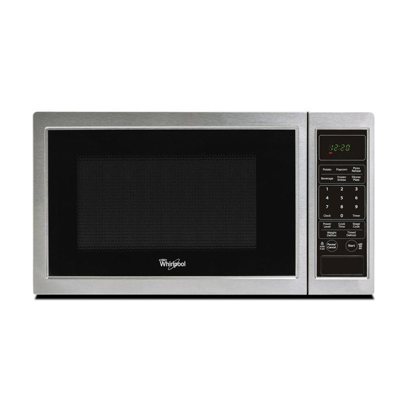 Whirlpool - 0.9 cu. Ft  Counter top Microwave in Black Stainless - WMC11009AS